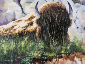 Grassy Beaut (Acrylic on canvas)